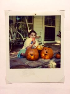 me with my pumpkin and award
